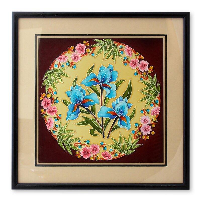Novica Floral Cold Ceramic Relief Panel Wall Décor & Reviews | Wayfair