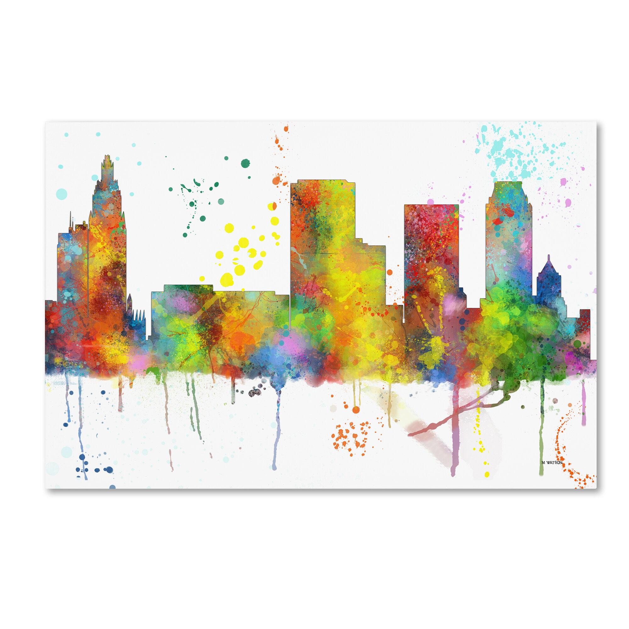 Trademark Art Tulsa Oklahoma Skyline Mclr 1 Graphic Art
