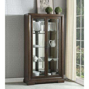 Framlingham Spacious Wood and Glass Curio Cabinet