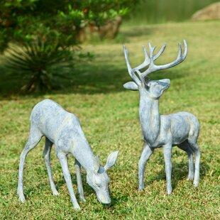 Superieur Garden Deer Pair Statue