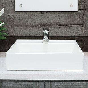 Save Decolav Clically Redefined Aurelia Ceramic Square Vessel Bathroom Sink