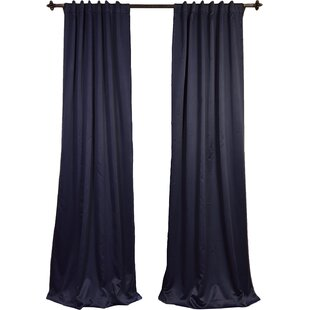 Carden Solid Extra Wide Thermal Blackout Rod Pocket And Tab Top Single Curtain Panel