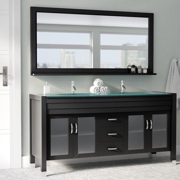 Brayden Studio Frausto 63 Double Bathroom Vanity Set With Mirror Reviews Wayfair