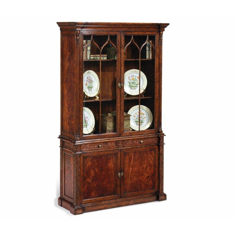 Jonathan Charles Fine Furniture Buckingham George Iii Gothic Glazed China Cabinet Wayfair