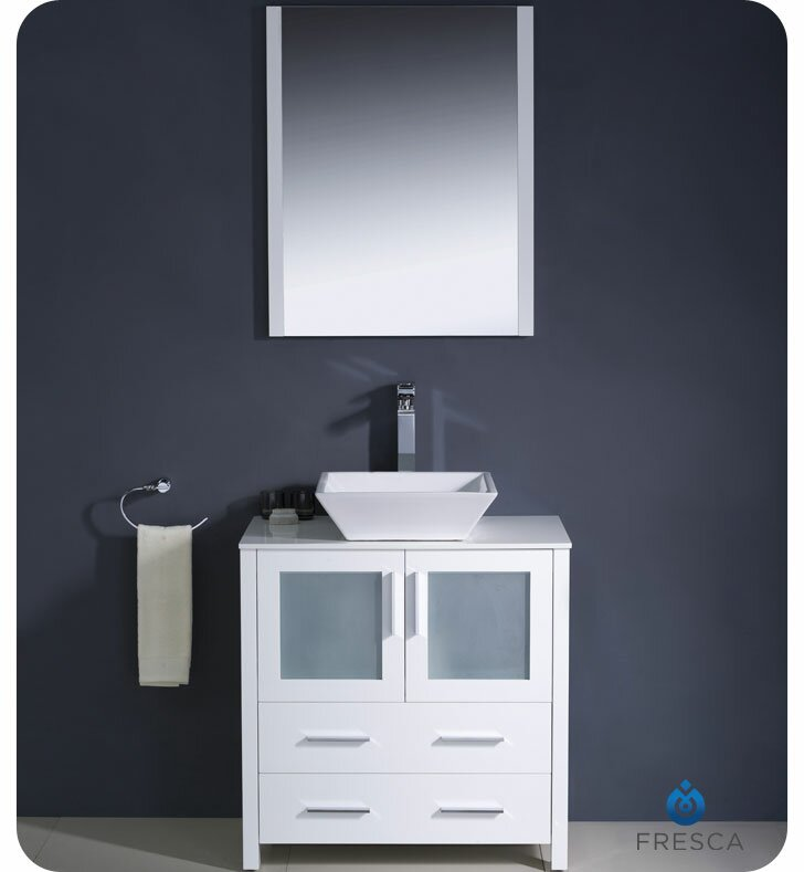 "Modern Bathroom Vanity Sets fresca torino 30"" single modern bathroom vanity set with mirror"