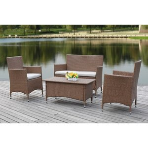Taylortown Outdoor 4 Piece Deep Seating Group with Cushions