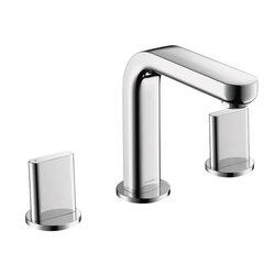Bathroom Faucet Widespread hansgrohe metris double handles widespread standard bathroom