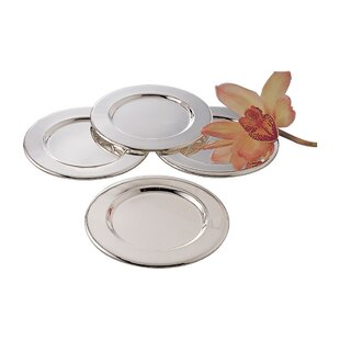 Silver Plated Round 4 Piece Decorative Plate Set  sc 1 st  Wayfair & Silver Plated Tea Set | Wayfair