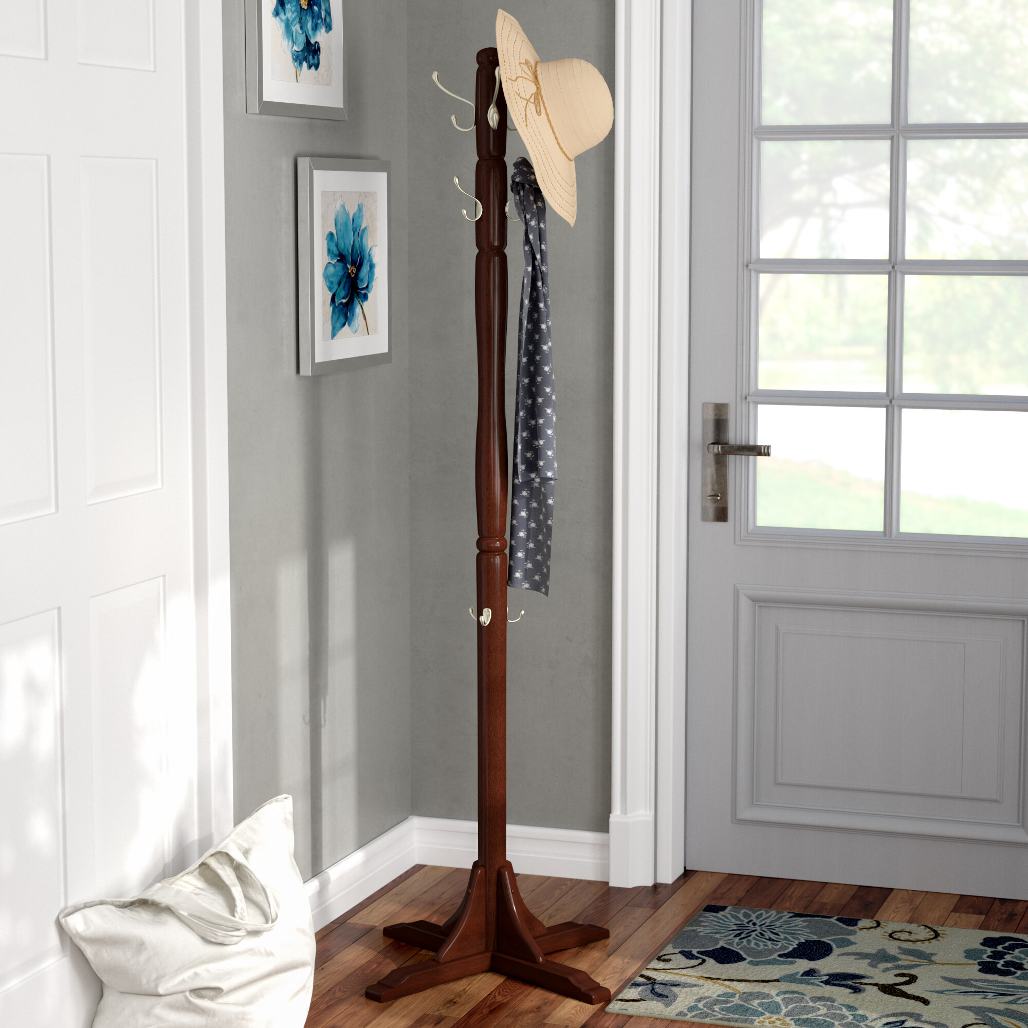 d55c691cbe5ce Alcott Hill Freestanding Wood Coat Stand   Reviews