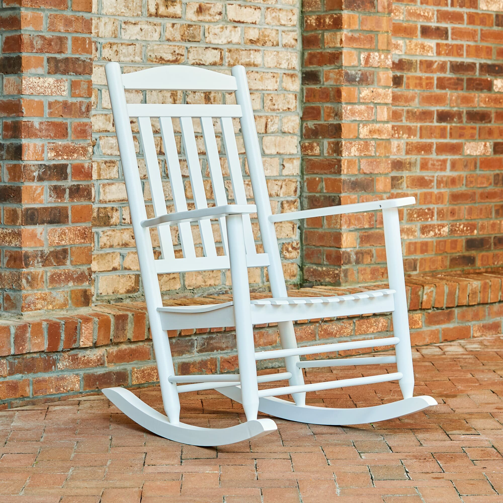 beachcrest home palmyra porch rocker chair reviews wayfair