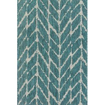 Sicily Blue Indoor/Outdoor Area Rug & Reviews | AllModern