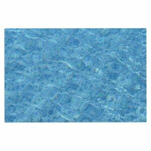'Calm Blue Pool Water' Doormat