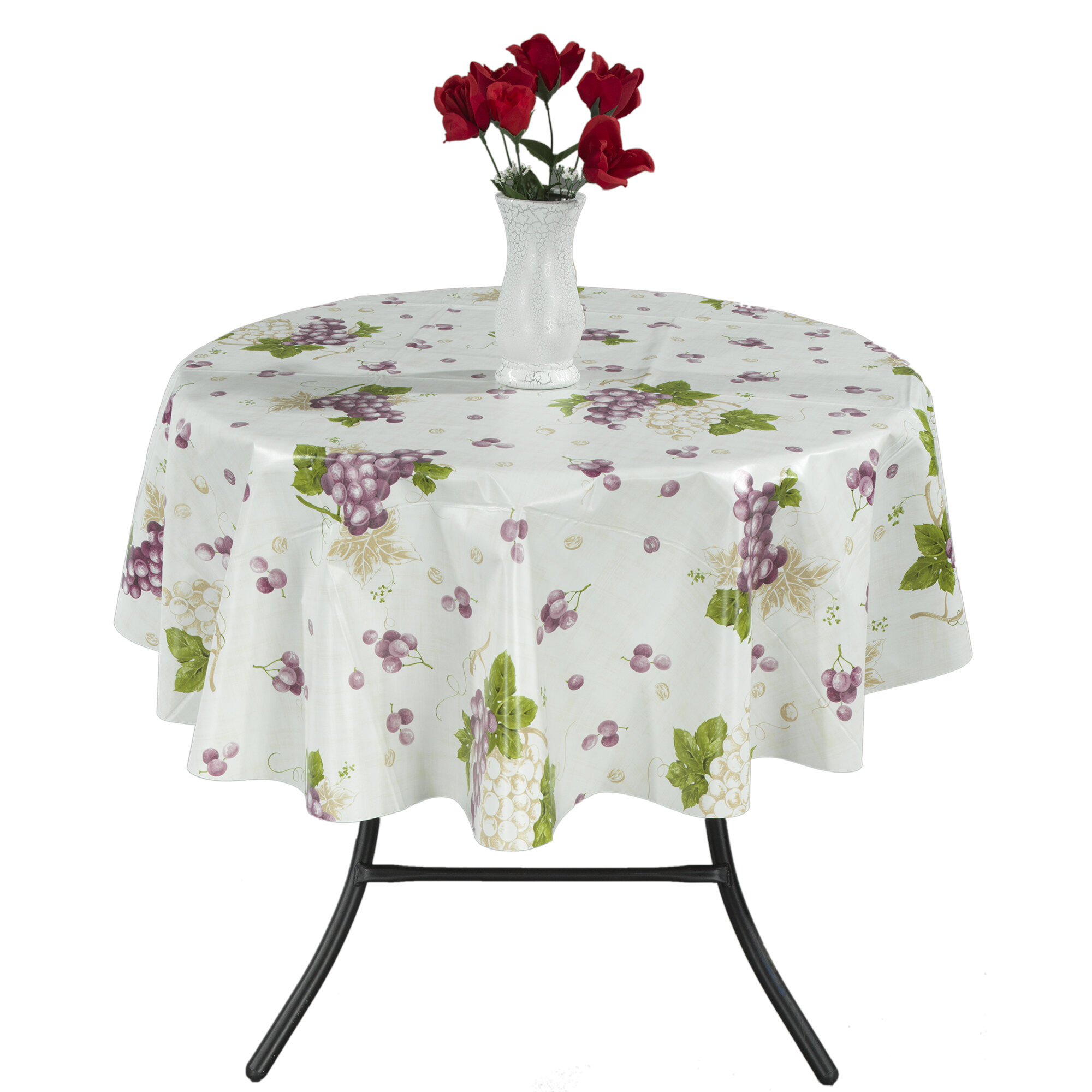 Berrnour Home Grape Vine Vinyl Indoor/Outdoor Tablecloth & Reviews ...