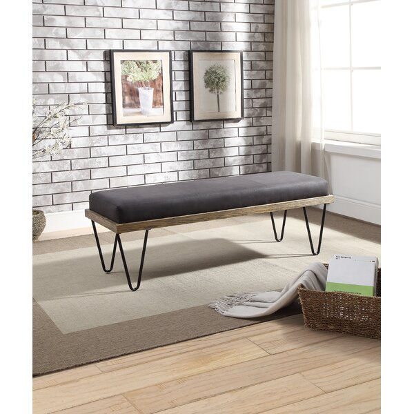 Locher Upholstered Bench by Union Rustic
