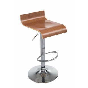 Genial Wood Height Adjustable Bar Stool