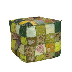 Square Patchwork Pouf by Elements