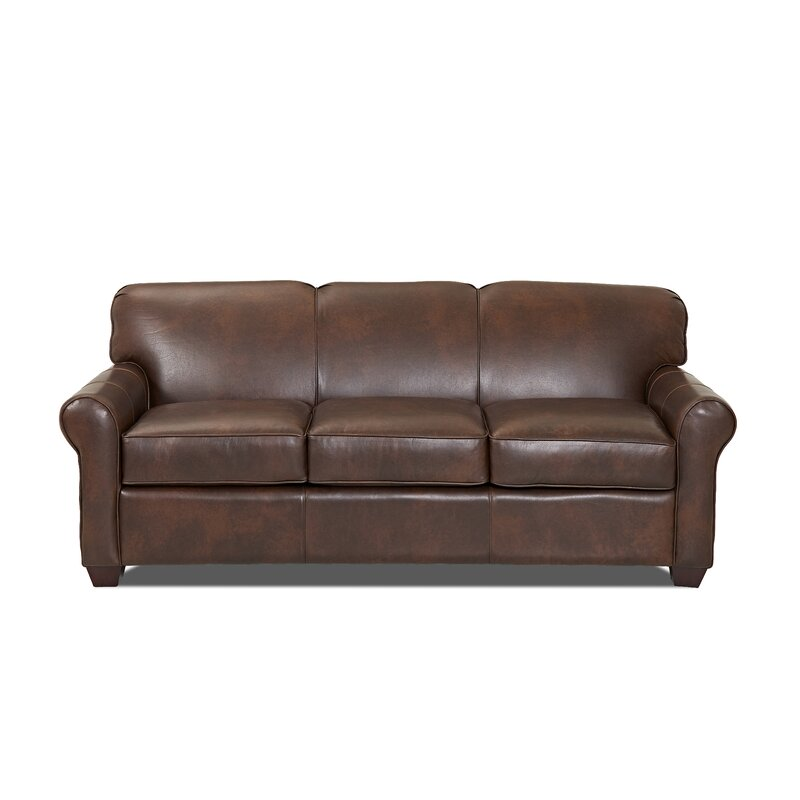 Wayfair   Wayfair Custom Upholstery™ Jennifer Leather Sofa Bed