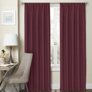 dunstable solid blackout thermal rod pocket curtain panels set of 2