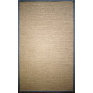 Natura Framed Border Tan Area Rug