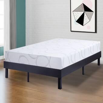 0e12c1b3051cb Wilfong Wood Platform Steel Bed Frame
