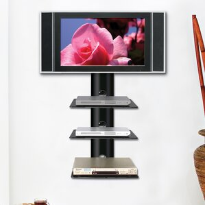 Monte Carlo Triple Wall-Mount Shelf System in Hi-Gloss Black by Ready Set ..