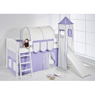 Ida European Single Mid Sleeper Bed with Textile Set by Just Kids