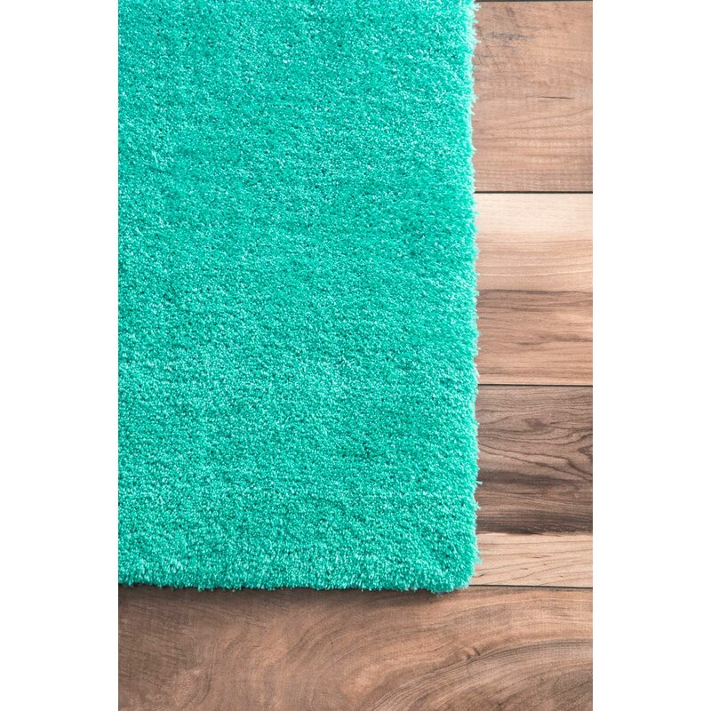 Florida Gray Turquoise Area Rug: Bierman Hand-Tufted Turquoise/Gray Area Rug & Reviews