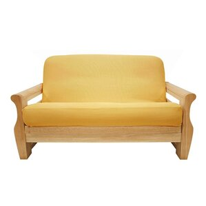 Brushed Sunflower Box Cushion Futon Slipcove..