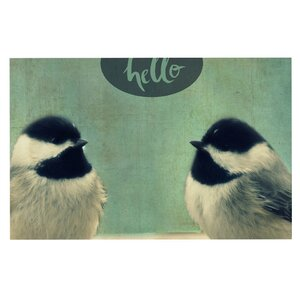'Hello Birds' Doormat