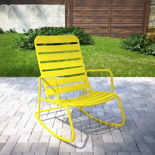 buy popular 9796b 20ea3 Metal Patio Rocking Chairs You'll Love | Wayfair
