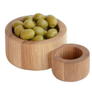 Olive Sanded Oiled Oak Bowl