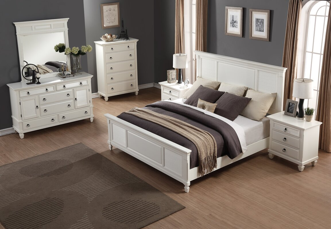 Roundhill Furniture Regitina Queen Platform 6 Piece Bedroom Set ...