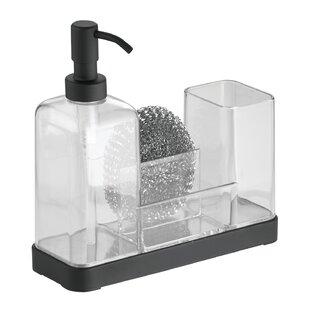 Jorgensen Kitchen Soap Dispenser Pump Sponge Scrubby And Dish Brush Caddy Organizer