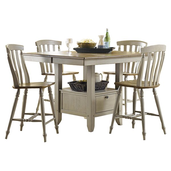 5 Piece Savannah Dining Set In Taupe Driftwood