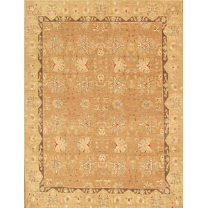 Ferehan Hand-Knotted Light Brown Area Rug