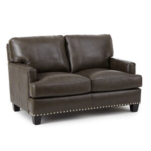 Mesilla Leather Loveseat by World Menagerie