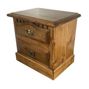 Barta Premium Solid Pine 2 Drawer Nightstand