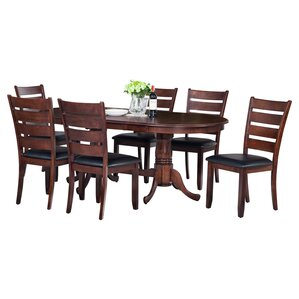 Doretha 7 Piece Dining Set with Curved Back Chair by Darby Home Co