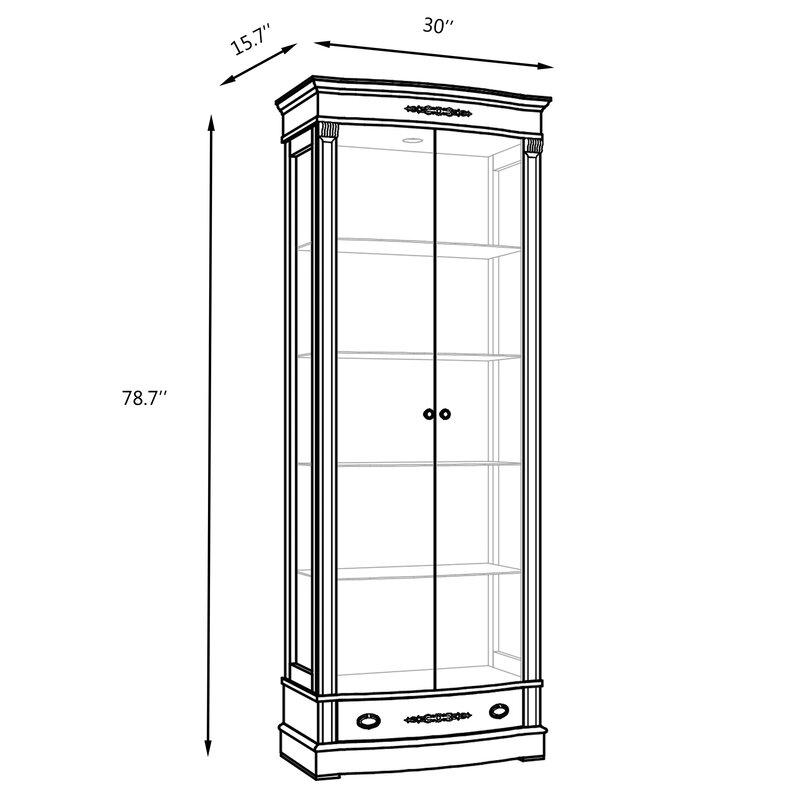 Canora Grey Elbert Glass Door China Cabinet Wayfair