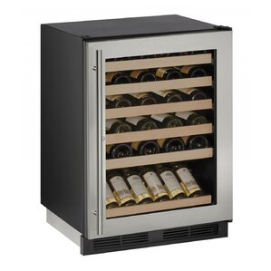 48 Bottle 1000 Series Single Zone Built-in Wine Cellar by U-Line