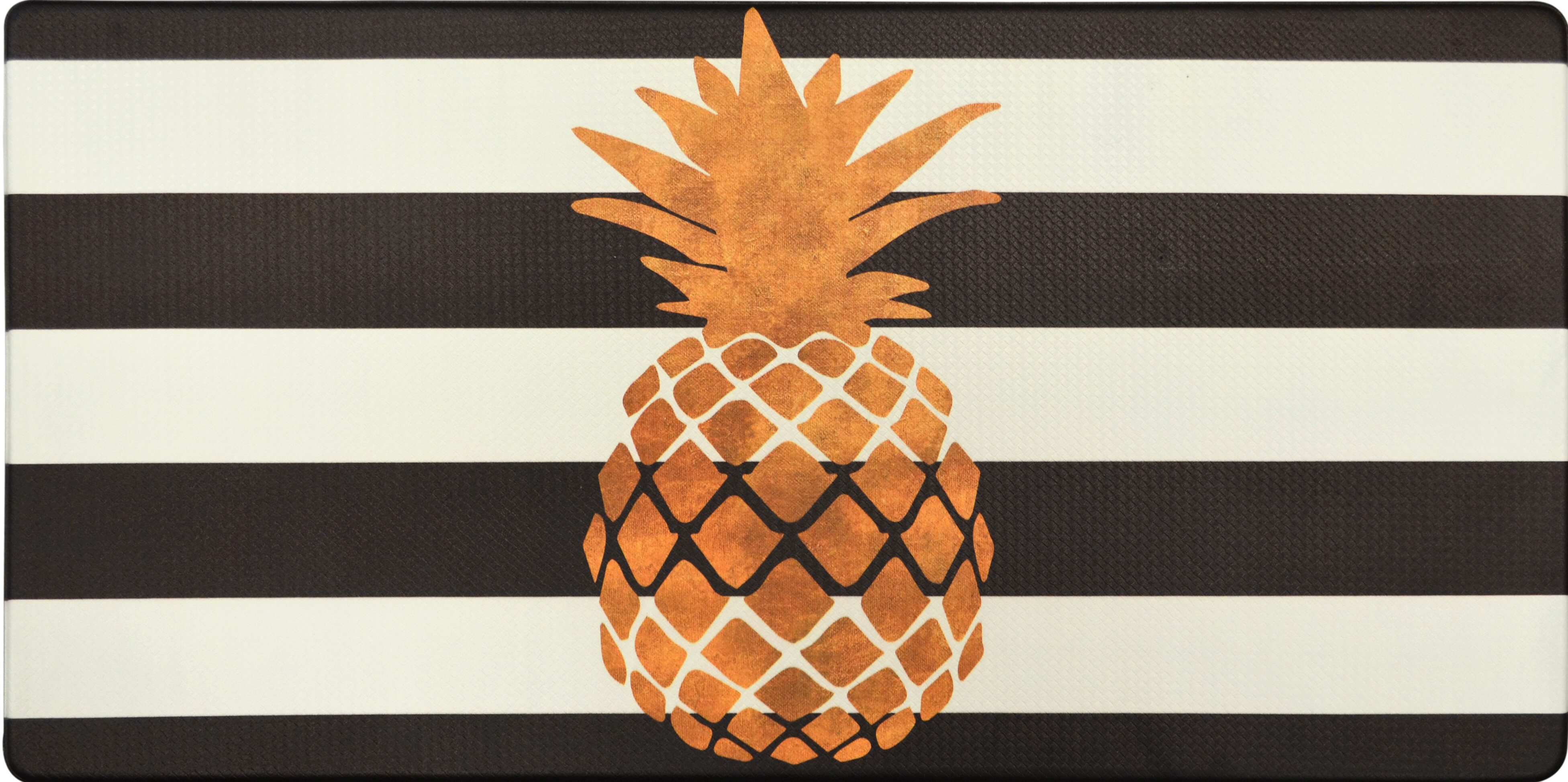 Nicole Miller Cook N Comfort Gold Pineapple Kitchen Mat Reviews