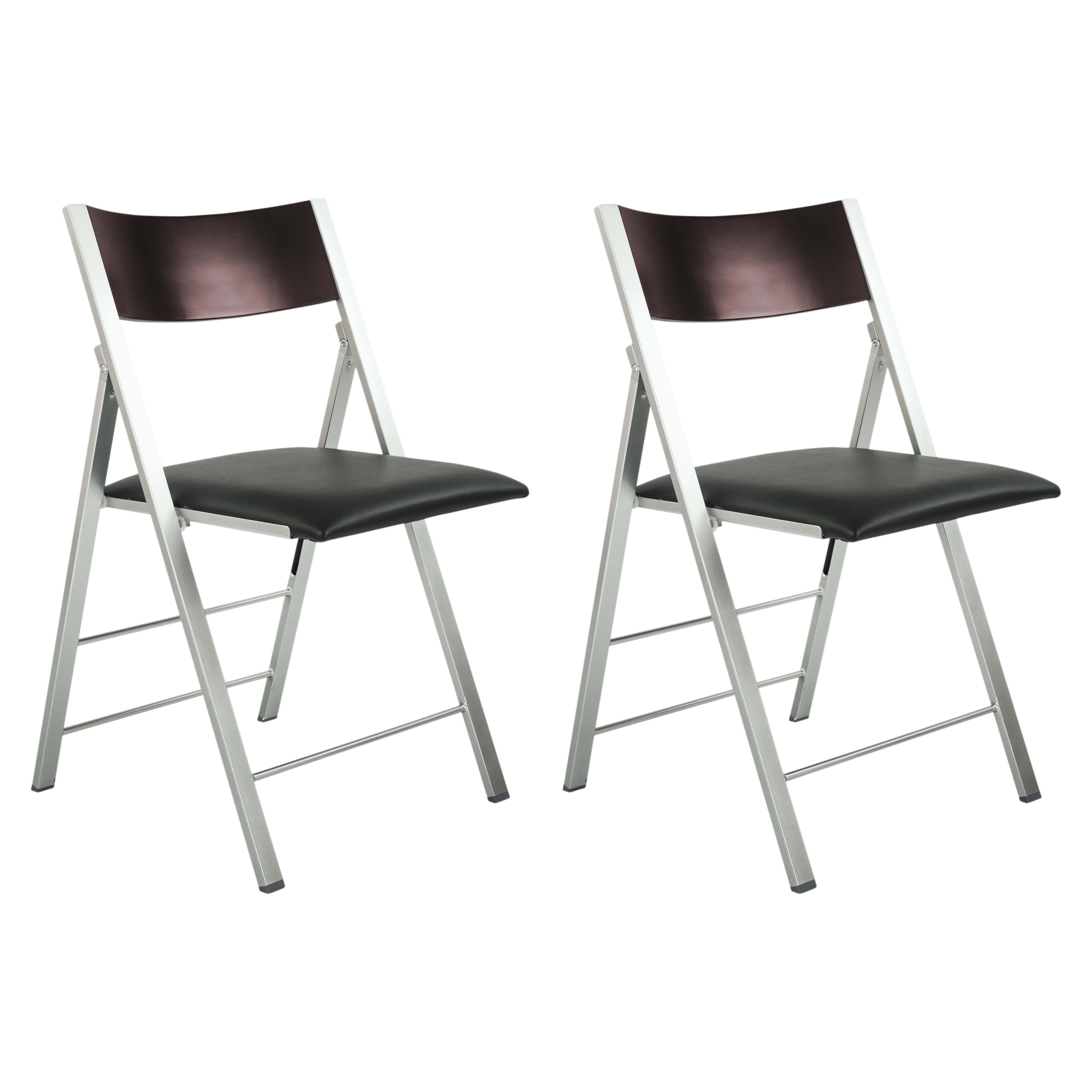 CORNER HOUSEWARES fort and Style Modern Metal Folding Chair