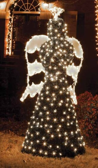 giant commercial grade led lighted angel topiary christmas decoration