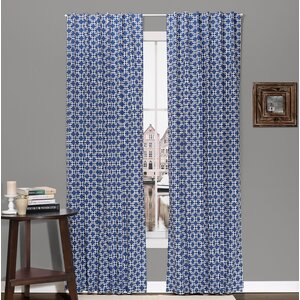 Geo Geometric Blackout Rod Pocket Curtain Panels (Set of 2)