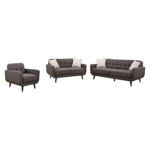 crystal 3 piece living room set