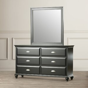 Centerville Simmons Casegoods 6 Drawer Dresser with Mirror by Three Posts