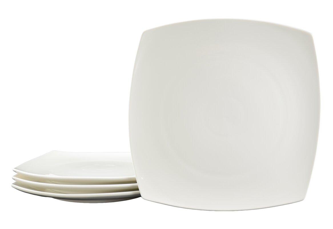 """White Tie Casablanca 10.5"""" Dinner Plate"""