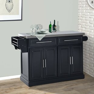 Teignmouth Rolling Kitchen Island With Stainless Steel Top 2019 Coupon
