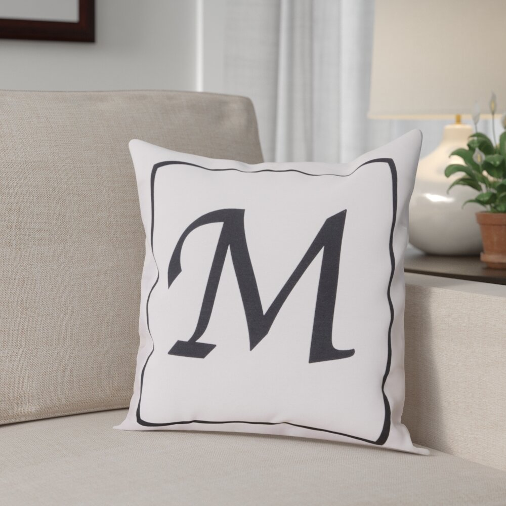 Andover Mills Monogram Throw Pillow   Reviews  ceaa7f395246