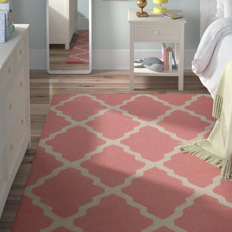 viv rae sherryl hand woven wool baby pink area rug reviews wayfair
